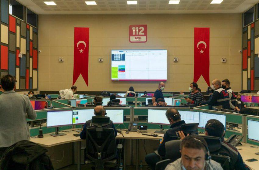 Çorum Gümüşhane ve Osmaniye'yle birlikte 112 Acil Çağrı Merkezleri 58 İlde Aktif