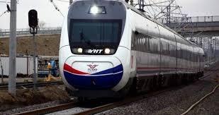 Yüksek hızlı tren test için Sivas'ta