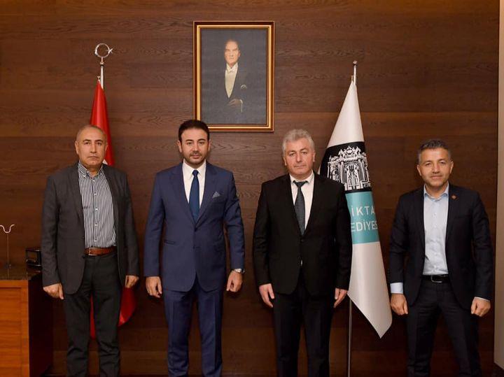"""Başkan Gök; Beşiktaş Belediye Başkanı Rıza Akpolat""""ı ziyaret ettik"""