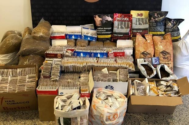 Sivas'ta kilolarca kaçak tütün ele geçirildi